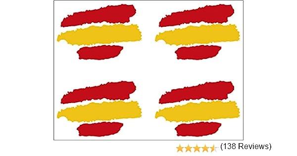 Artimagen Pegatina Bandera Trazos España 4 uds. 40x25 mm/ud ...