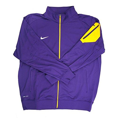 Nike Dri-Fit Men's Purple/Yellow Full-Zip Jacket - Large - Tall (Yellow Jacket Nike)