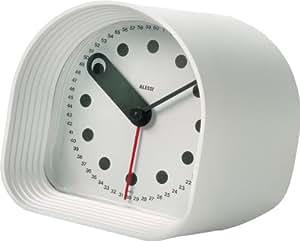 Alessi 02 W Optic - Reloj despertador analógico (plástico ABS) - blanco