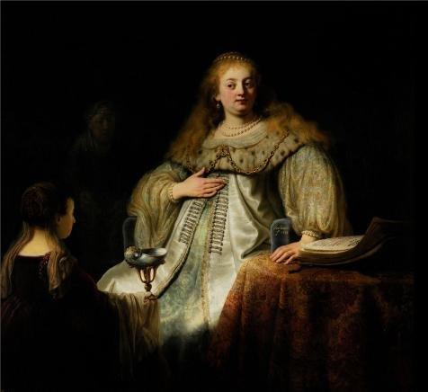 ポリエステルキャンバス、リーズナブルでアート装飾アート装飾キャンバスの油絵` Judith at banquet of Holofernes、1634Rembrandt van Rijn `、24x 26インチ/ 61x 67cmは最高のホーム、保育園装飾アートワークとギフト