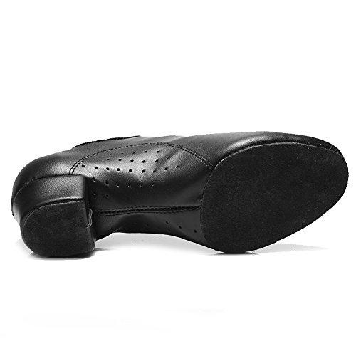 Cm Pelle Latina pu tacco Per 3 Standard Ballo o Uomo 4cm Nero Scarpe men Danza 5 5cm 2 itcl Professionale Da modello Hipposeus XCFvg6wxqg