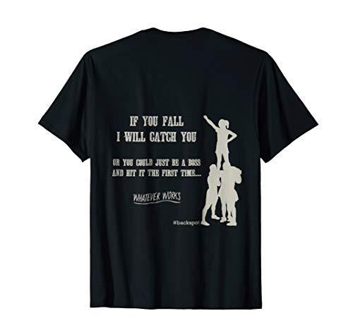 Competitive Cheer Funny Base Backspot T Shirt Back Design