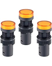 uxcell 3Pcs Indicator Light AC/DC 24V, 16mm Panel Mount, for Electrical Control Panel, HVAC, DIY Projects