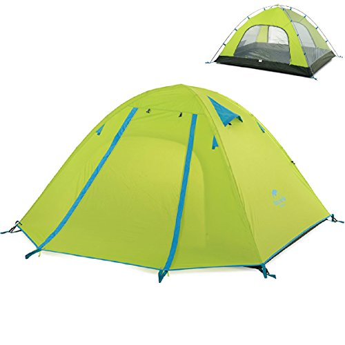 Triwonder 2-3-4 Person 3 Season Camping Tent Double Doors Lightweight Waterproof Double Layer Backpacking Tent for Camping Hiking (Green, 3-4 Person)