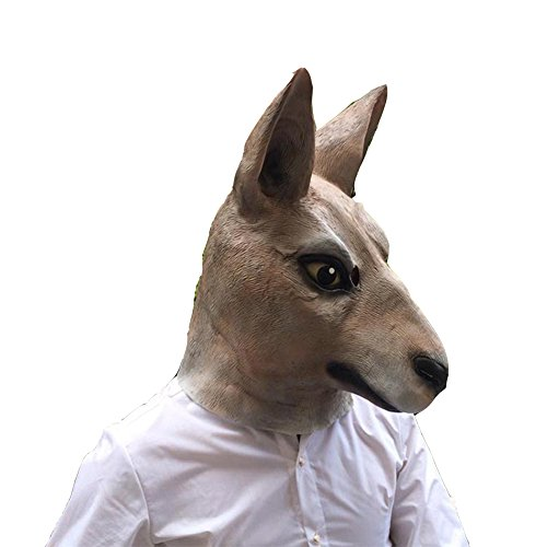 [Horse Head Unicorn Zebra Mask Halloween'S Day Costume Dress Up Cosplay Headwear (Kangaroo)] (Zebra Head Costumes)
