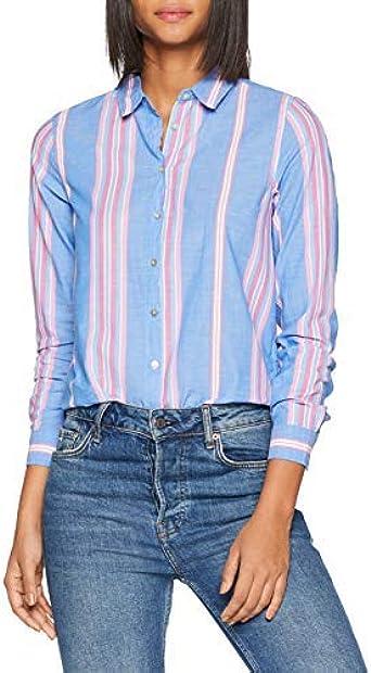 Springfield 5.T.Camisa Rayas Contrast Camiseta, Azul (Gama ...