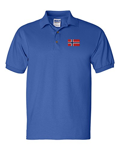 Norway Flag Custom Personalized Embroidery Embroidered Golf Polo Shirt