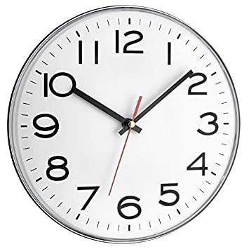 Orologio analogico da Parete TFA Dostmann 60.3017 Bianco con batterie