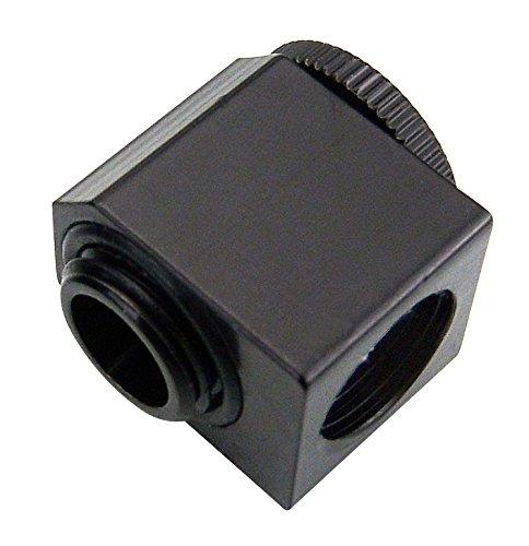 Koolance NZL-LXG2-BK Fitting Single,Black Adjustable Elbow (Low Profile), G 1/4 BSPP