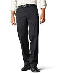 Dockers Men\'s Straight Fit Signature Khaki Pant D2, Black (Cotton) -discontinued, 32W x 30L