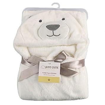 Tongchou Baby Infant Newborn Bathrobe Hooded Flannel Fleece Bathing Wrap Blanket Brown Giraffe
