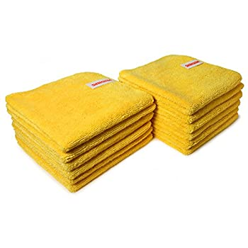 Image of Mothers 90-90004 Professional Grade Premium Microfiber Towels, Gold, (Pack of 144) Cleaning Cloths