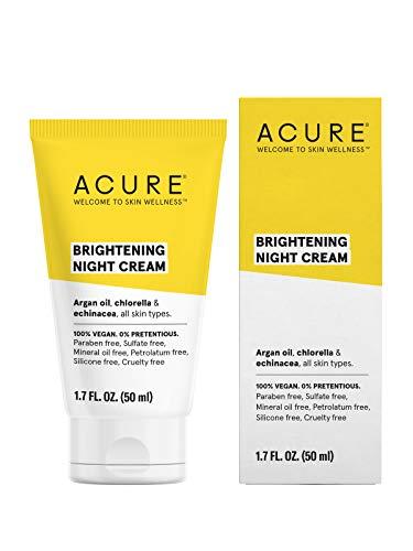 ACURE Brightening Night Cream | 100% Vegan | For A Brighter Appearance | Argan Oil, Chlorella & Echinacea – Moisturizes…