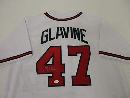 (Autographed Tom Glavine Jersey - COA - JSA Certified - Autographed MLB Jerseys)