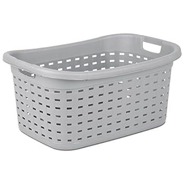 Sterilite 12756A06 Weave Laundry Basket, Cement, 6-Pack