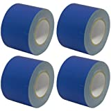 Seismic Audio - SeismicTape-Blue604-4Pack - 4 Pack of 4 Inch Blue Gaffer's Tape - 60 yards per Roll