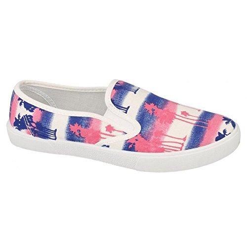 Spot Op Dames Kunstleer Loafers Schoenen Roze / Blauw