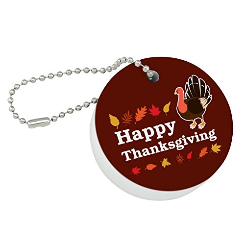 - Graphics and More Happy Thanksgiving Turkey Round Floating Foam Fishing Boat Buoy Key Float Keychain