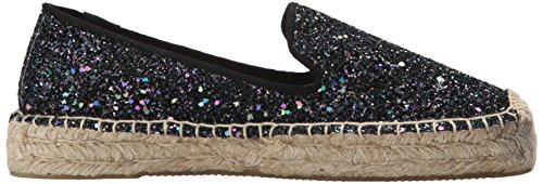 Soludos Piattaforma Da Donna Smoking Slipper Dis Co Glitter Flat Midnight Blue
