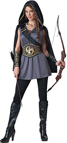 InCharacter Costumes Women's Huntress Costume, Grey/Black, Medium