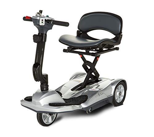 EV Rider Transport AF-Auto Folding Scooter with Free Front Tiller Bag-Silver ()