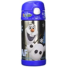 Frozen's Olaf 12oz Stainless Steel Thermo Funtainer Straw Bottle