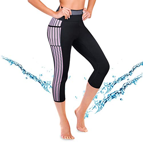 Paddling Suit - CtriLady Women's Wetsuit Pants UPF 50+ Warmth Neoprene Diving Swimming Surfing Canoeing Leggings Swimwear with Pocket