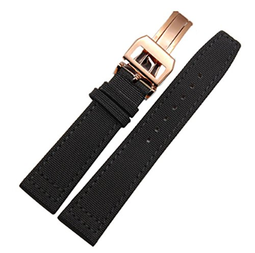 20mm 21mm 22mm Canvas Leather Watch Band Strap Fits for IWC Pilot's Watches PORTUGIESER Portofino Family
