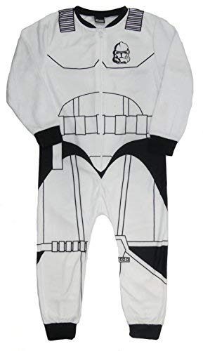 Boys Character All in One Sleepsuit Pajamas Soft Fleece 2-3years to 9-10 Years (Storm Trooper, 7-8 -