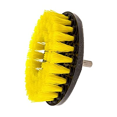 Drill Brush Attachment - Power Scrubbing Brush Drill Attachment for Cleaning Showers, Tubs, Bathrooms, Tile, Grout, Carpet, Tires, Boats (Medium Duty - 5 Inch) by K-Home