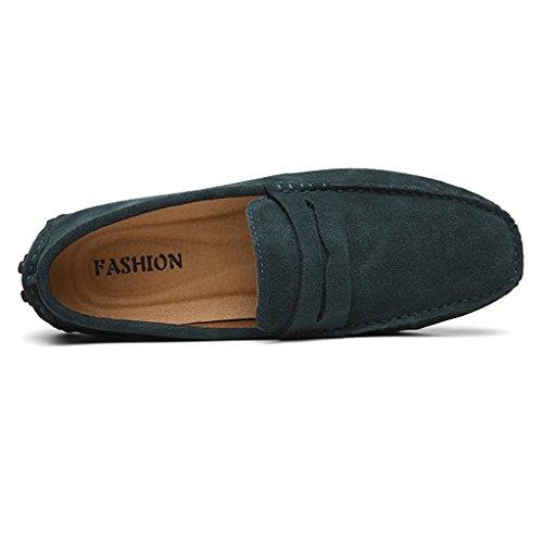 Eagsouni Uomo Classiche Mocassini Casuale Scarpe Scamosciata Slip On Penny Loafers Green