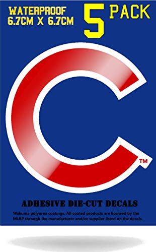 Wakuma, Chicago Cubs Vinyl Decal Sticker Set, 3 x 3 inch 5 - Chicago Cooler Cubs Rolling
