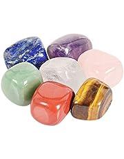 FOMIYES 7 stuks kleurrijke natuurlijke onregelmatige genezende kristallen genezing stenen set voor aarding kalmerende balans meditatie kristal therapie