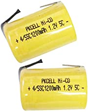 1.2V Nicd 4/5 Sub C Rechargeable Battery SC 1200mAh Battery W/Tab For Power Tool,2 Counts