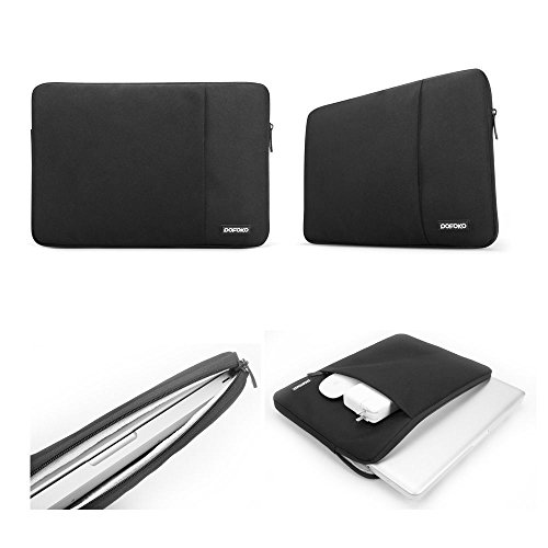 """Notebook laptop Sleeve Case Carry Bag Pouch Cover For 13"""" MacBook Air / Pro (Black)"""