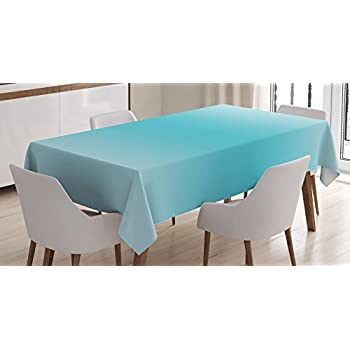 Ambesonne Ombre Tablecloth, Tropical Beach Cove Aquatic Ombre Design  Digital Printed Room Decorations Art Print, Dining Room Kitchen Rectangular  Table Cover ...