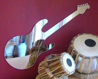 Sendmeamirror E-Gitarre Spiegel 65/cm x 28/cm Dean Style