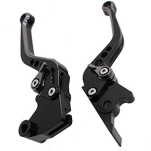 FXCNC Racing Short Billet Adjustable Motorcycle Double Colors Brake Clutch Lever set Pair fit for Suzuki GSXR600 750 06-16,GSXR1000 09-16,GSX-S1000//F//ABS 15-16