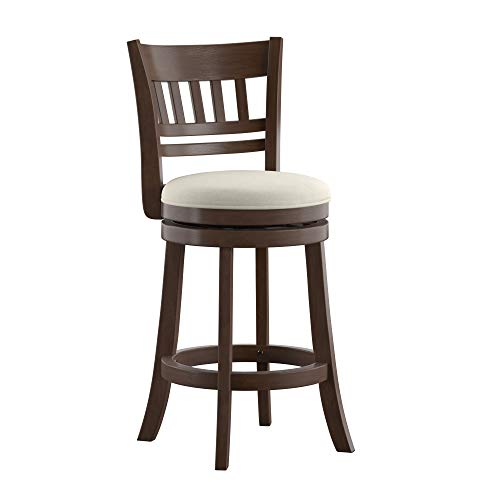 Union 5 Home Victor Linen Lattice Back Swivel 24-inch Counter Height Stool ()