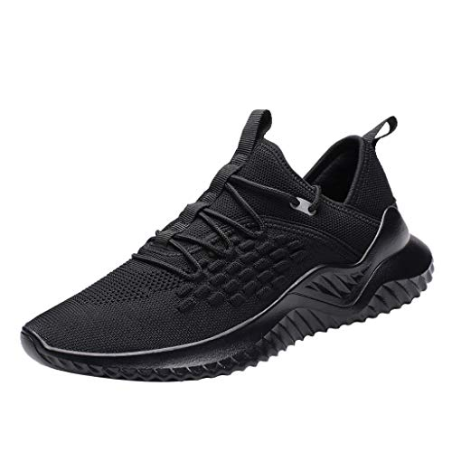 6ce7ad3c1c906 Wkgre Running Shoes Mens Leisure Athletic Flat Sport Non-Slip Light  Sneakers Casual Lightweight Board Classic Shoes (8.5, Black)
