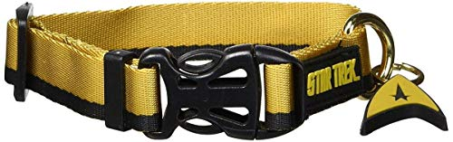 Image of Star Trek Dog Collar Gold Small- Boldly go where no other dog has gone before