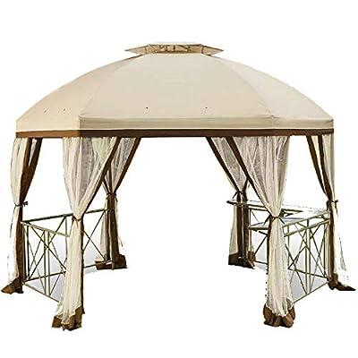 Garden Winds Long Beach Gazebo Replacement Canopy Top Cover and Netting - RipLock 350 : Garden & Outdoor