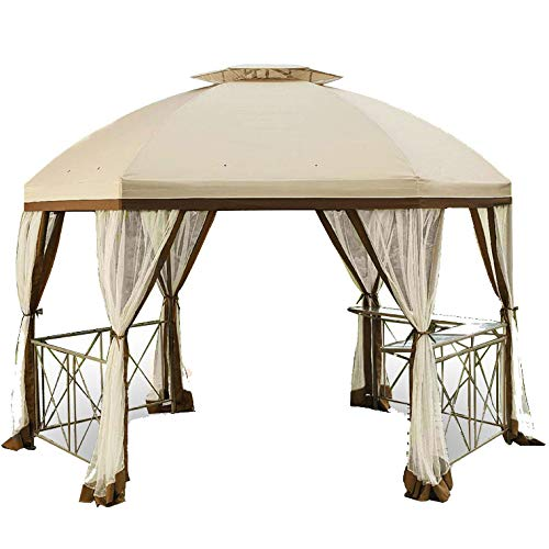 Long Beach Gazebo Replacement Canopy best canopy for windy conditions