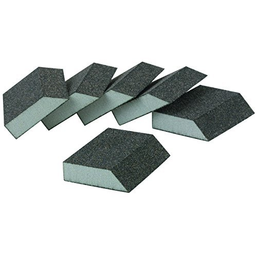 Pack of 6 Coarse Grade Aluminum Oxide Sanding Sponges with Beveled Edge