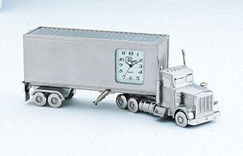 Sanis Enterprises 18 Wheeler Truck Clock, 5.5 by 2-Inch, Silver by Sanis Enterprises