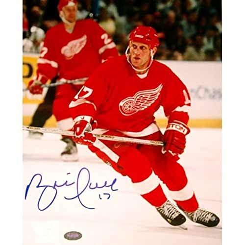 Brett Hull Signed Red Wings - Brett Hull Detroit Red Wings FAN Autographed Signed 8x10 Looking Photograph - Certified Signature