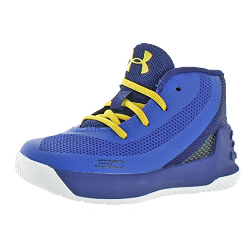 Curry Footwear (Under Armour Boys Curry 3 Toddler Mid Basketball Shoes Blue 6 Medium (D) Toddler)