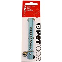 Petface Sparkly Cat Collar with Safety Clip and Bell, , Baby Blue