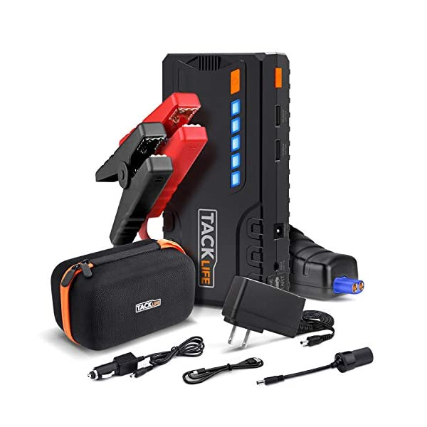 TACKLIFE T6 Car Jump Starter – 600A Peak 12V Auto Battery Jumper (up to 6.5L...