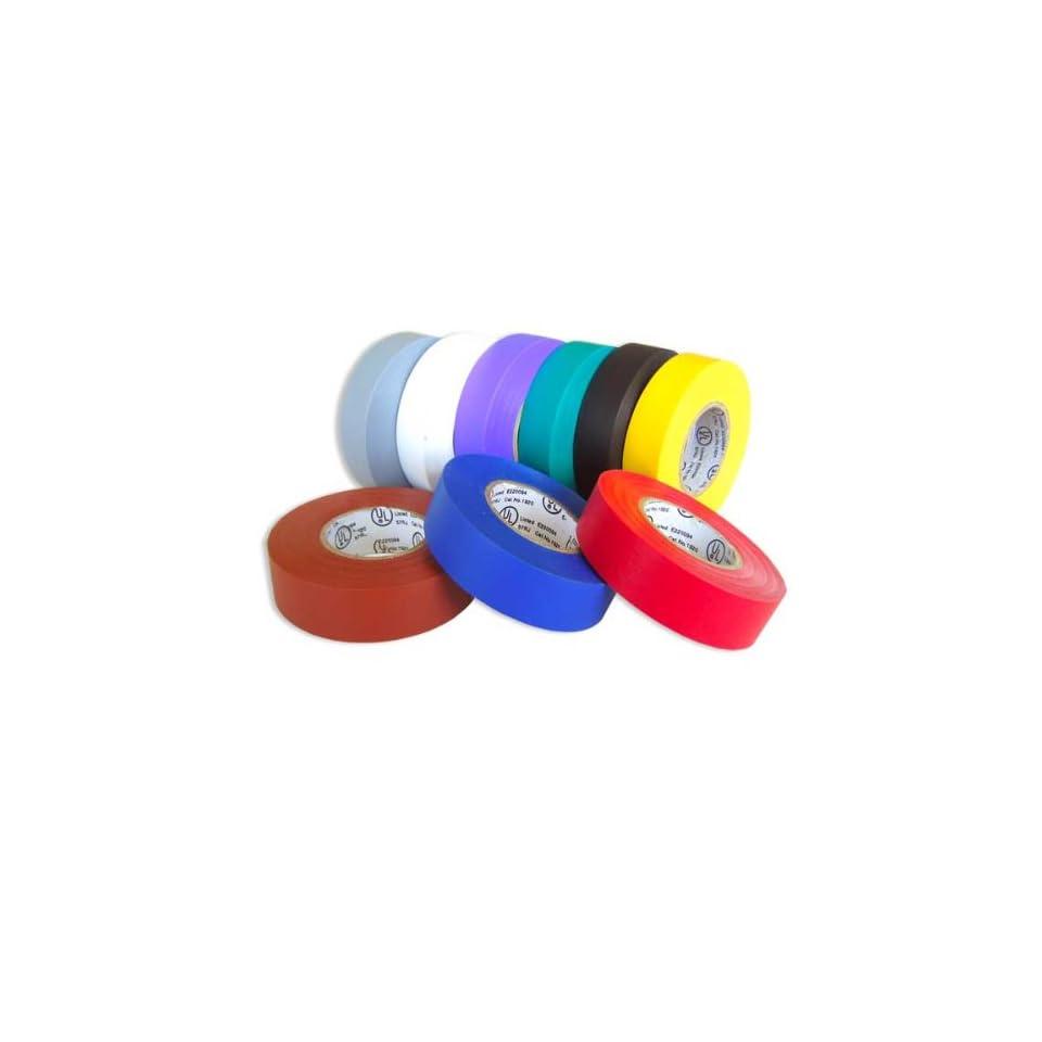 Jabectc RIDGE50116 Vinyl Heavy Duty Electrical Tape, 60 Length x 3/4 Width, Orange